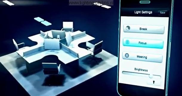 Kantoorverlichting schakelen met je smartphone