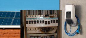 oplader en PV-installatie